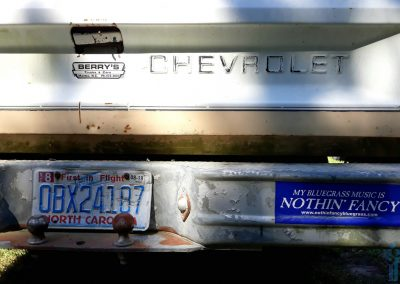 Chevy bumper stickers, Manteo, NC.