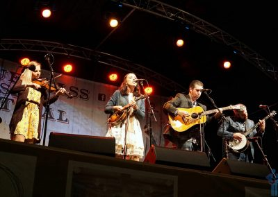 Darin & Brooke Aldridge headlining the 27th Bluegrass Music Festival, Ulster American Folk Park, Omagh, Northern Ireland. September 1, 2018.