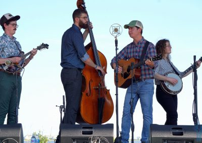 Mile Twelve, minus Bronwyn (sorry Bronwyn). Outer Banks Bluegrass Island Festival 2018.