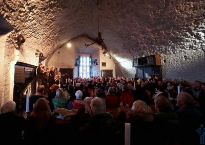 The Munich String Band performing in The Main Guard of Bunratty Castle, Co. Clare, Ireland during the 2019 Shannonside Winter Music Festival.