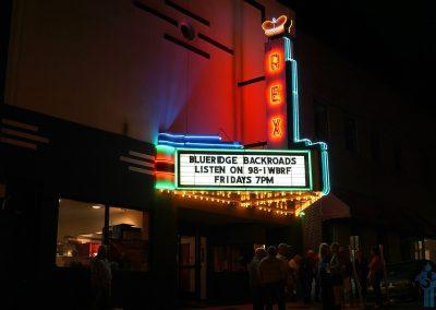 Rex Theater, Galax, VA, home of Friday night Blueridge Backroads on 98.1 WBRF.