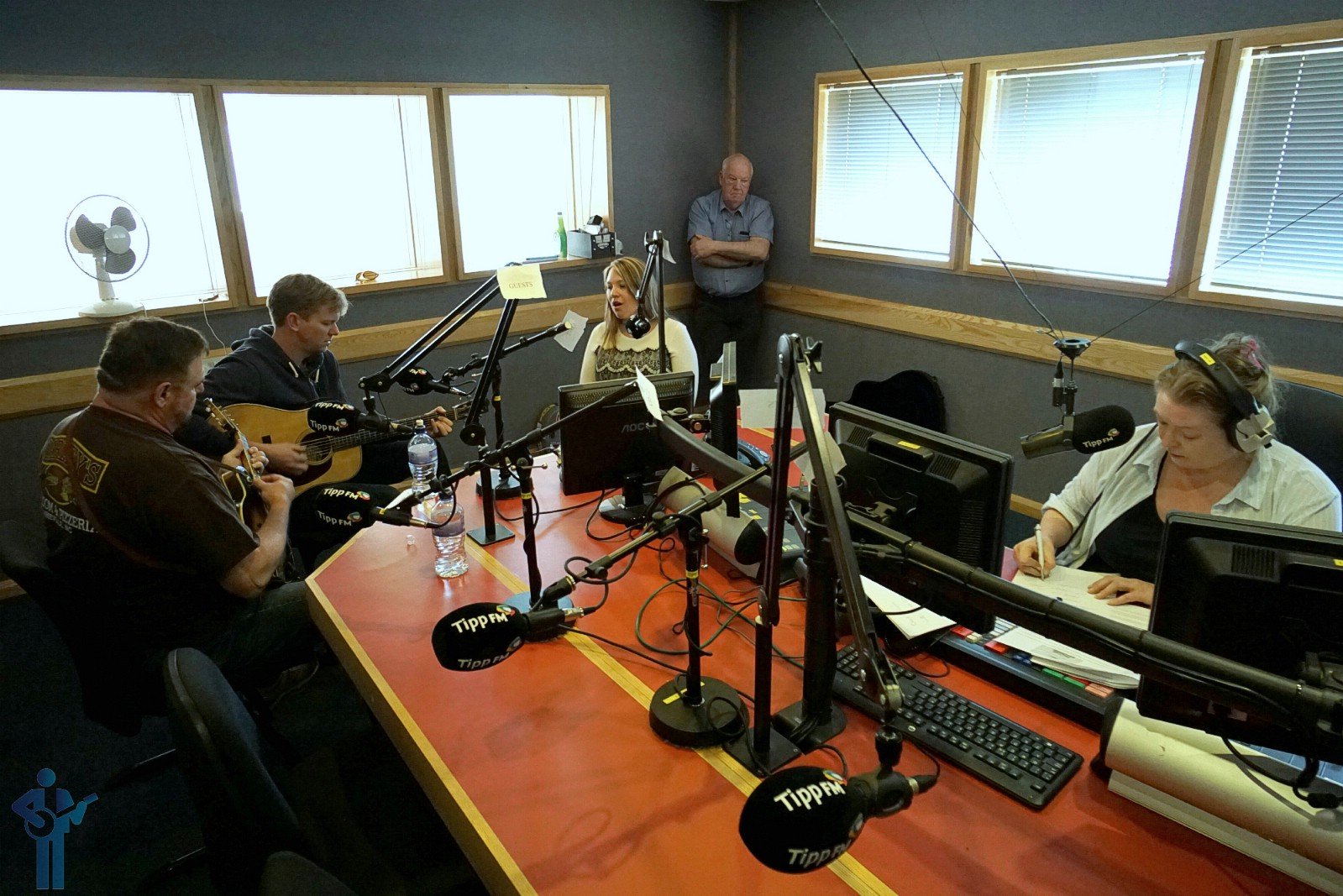 Performing in the Tipp FM studio in Clonmel, Co. Tipperary. May 13, 2019.
